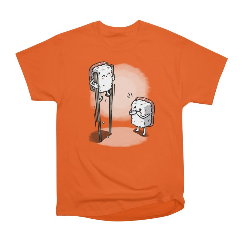 Sushi in Chopsticks Men's Heavyweight T-Shirt by Olipop Art & Design Shop