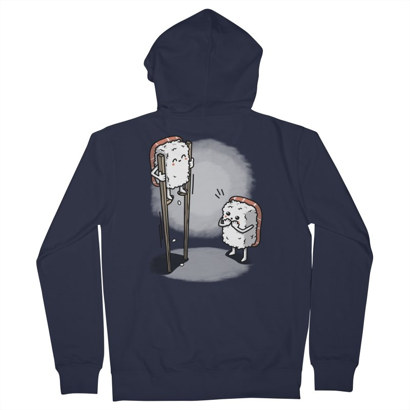 Sushi in Chopsticks Women's French Terry Zip-Up Hoody by Olipop Art & Design Shop