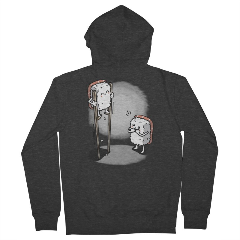 Sushi in Chopsticks Men's French Terry Zip-Up Hoody by Olipop Art & Design Shop