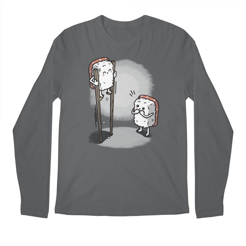Sushi in Chopsticks Men's Regular Longsleeve T-Shirt by Olipop Art & Design Shop