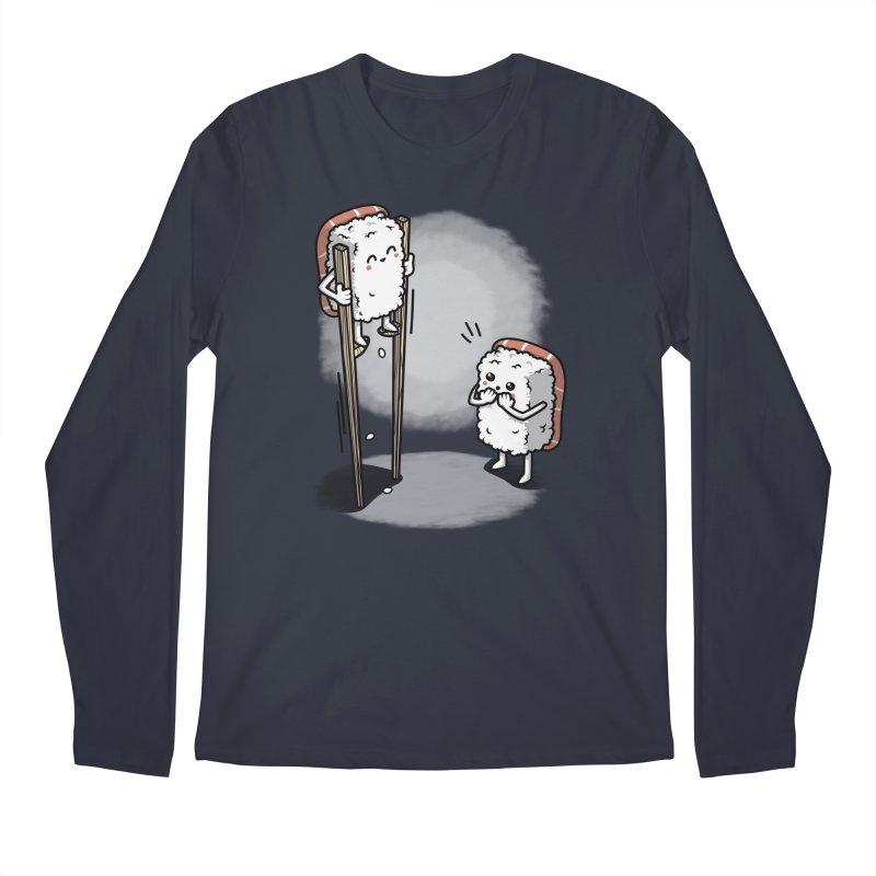 Sushi in Chopsticks Men's Regular Longsleeve T-Shirt by Olipop Art & Design Shop