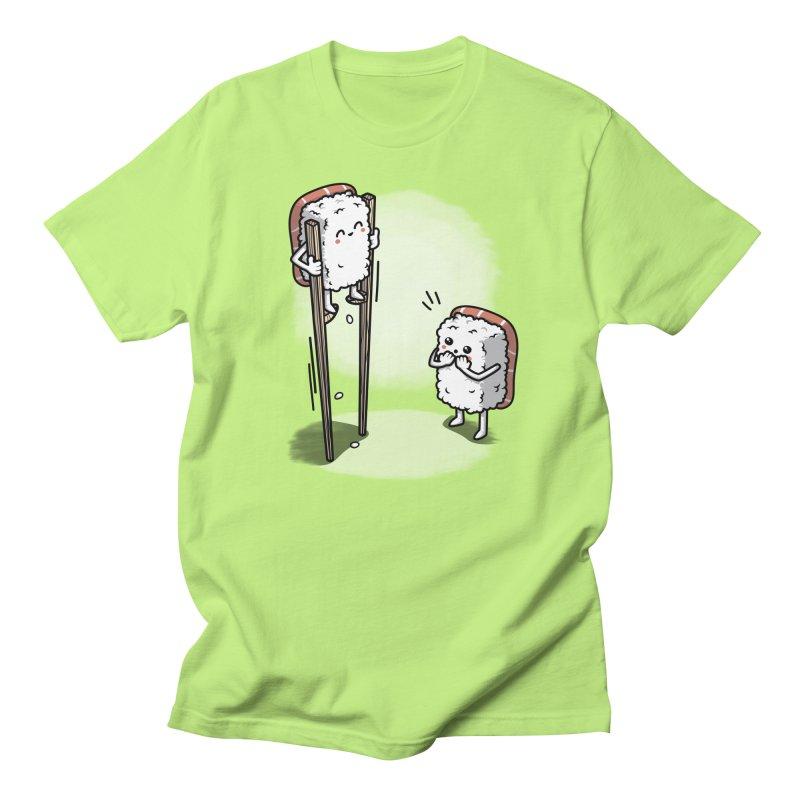 Sushi in Chopsticks Men's Regular T-Shirt by Olipop Art & Design Shop