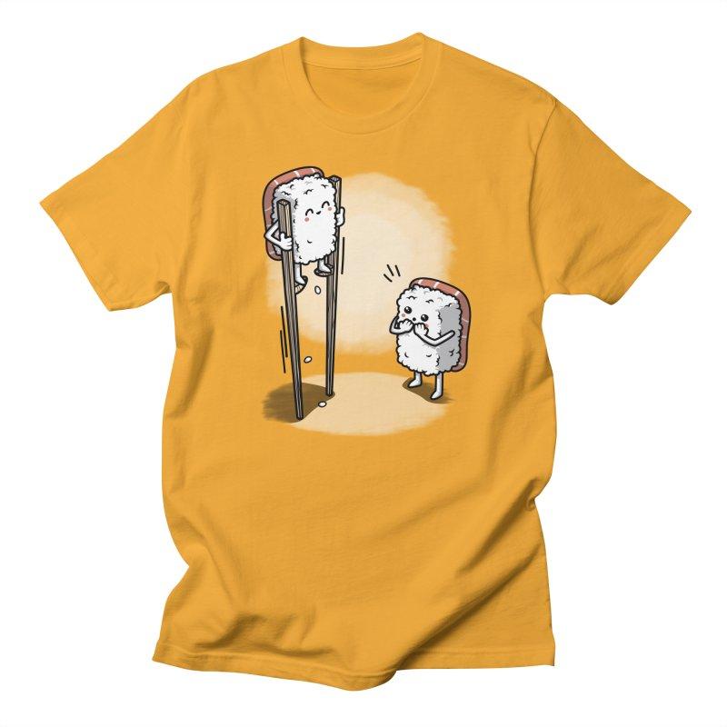 Sushi in Chopsticks Men's T-Shirt by Olipop Art & Design Shop