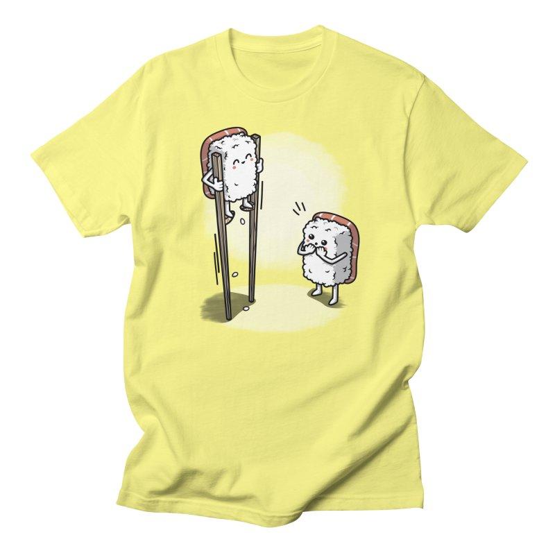 Sushi in Chopsticks Women's Regular Unisex T-Shirt by Olipop Art & Design Shop