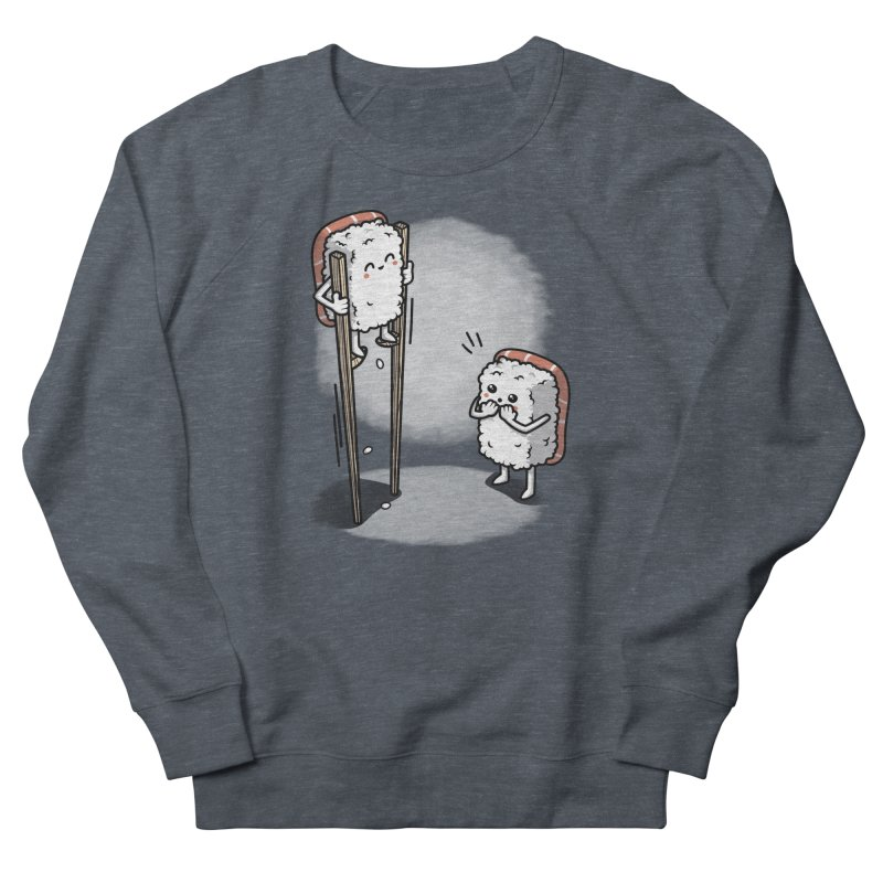 Sushi in Chopsticks Women's French Terry Sweatshirt by Olipop Art & Design Shop