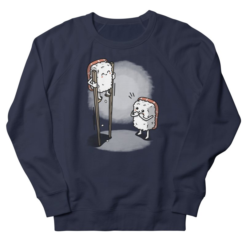 Sushi in Chopsticks Men's French Terry Sweatshirt by Olipop Art & Design Shop