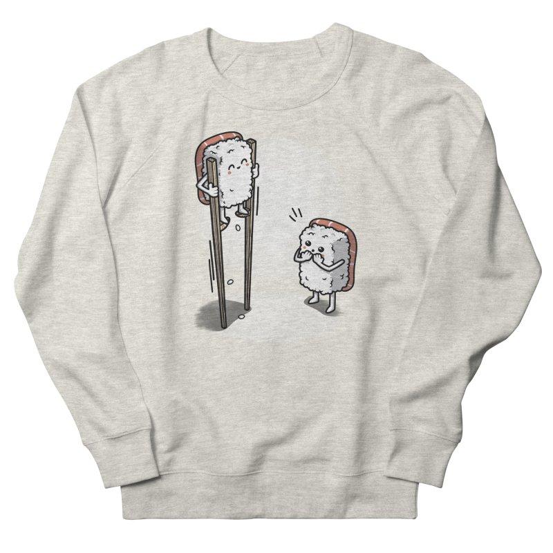 Sushi in Chopsticks Men's French Terry Sweatshirt by Olipop Art & Design Shop