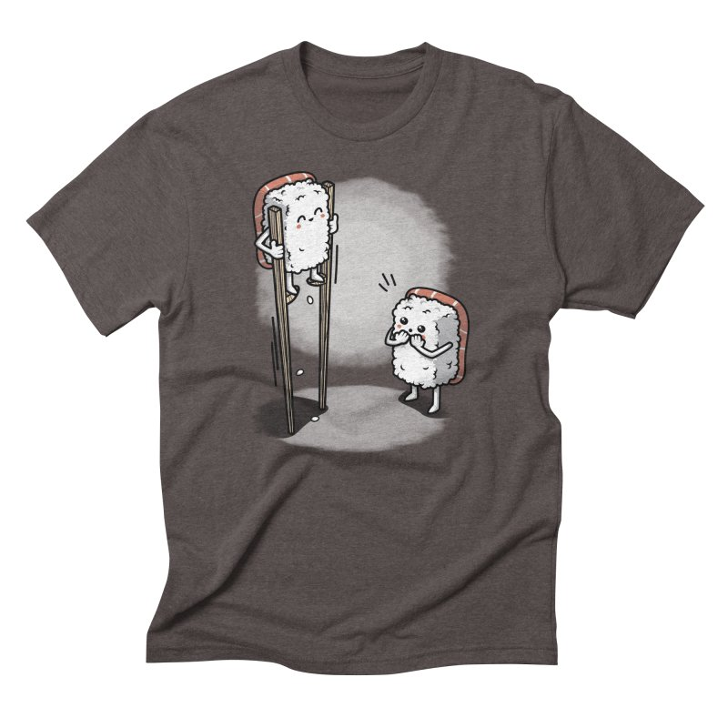 Sushi in Chopsticks Men's Triblend T-Shirt by Olipop Art & Design Shop