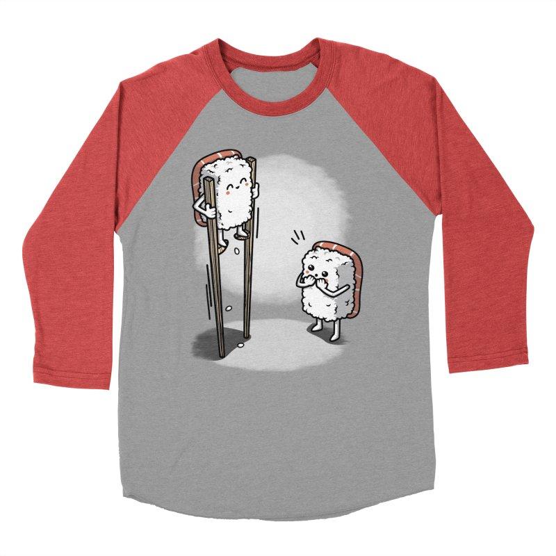 Sushi in Chopsticks Men's Baseball Triblend Longsleeve T-Shirt by Olipop Art & Design Shop