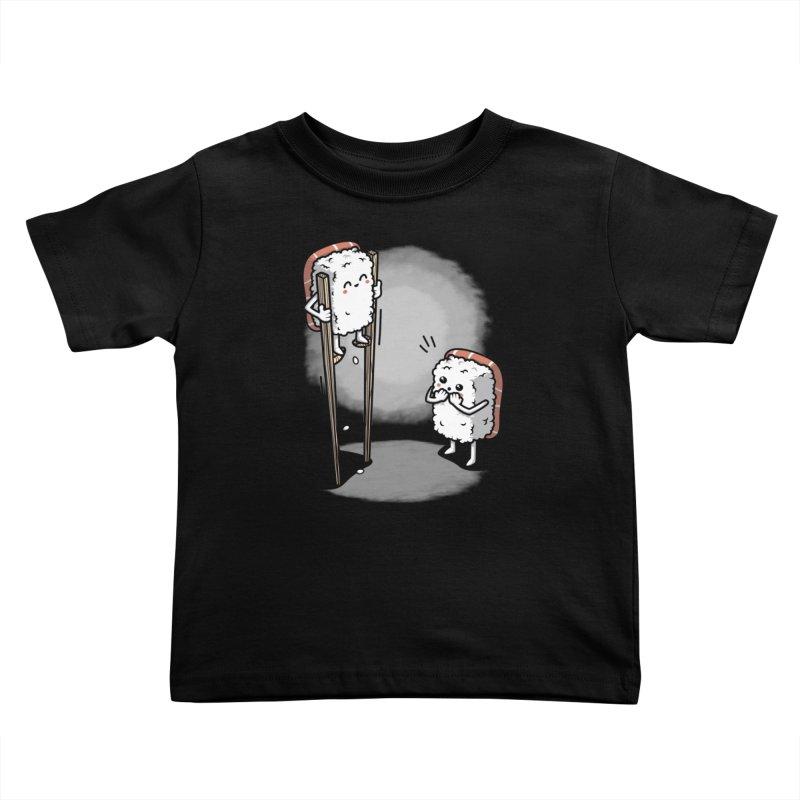 Sushi in Chopsticks Kids Toddler T-Shirt by Olipop Art & Design Shop