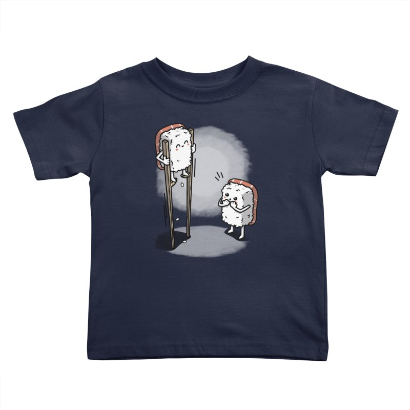 Sushi in Chopsticks Kids Toddler T-Shirt by Olipop Art & Design Shop