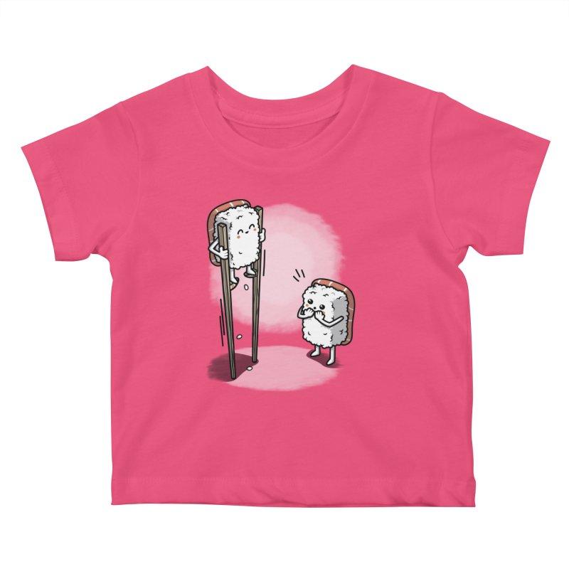 Sushi in Chopsticks Kids Baby T-Shirt by Olipop Art & Design Shop