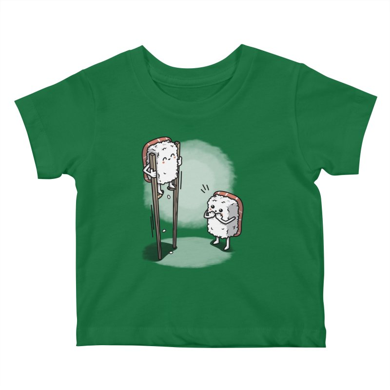 Sushi in Chopsticks Kids Baby T-Shirt by Olipop Art & Design Shop