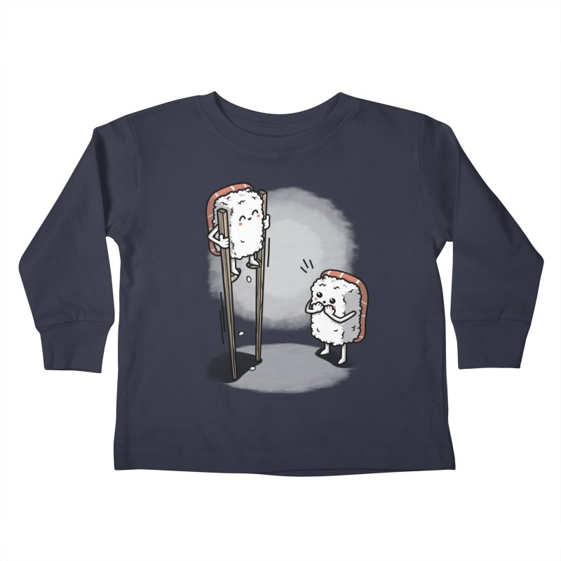 Sushi in Chopsticks Kids Toddler Longsleeve T-Shirt by Olipop Art & Design Shop