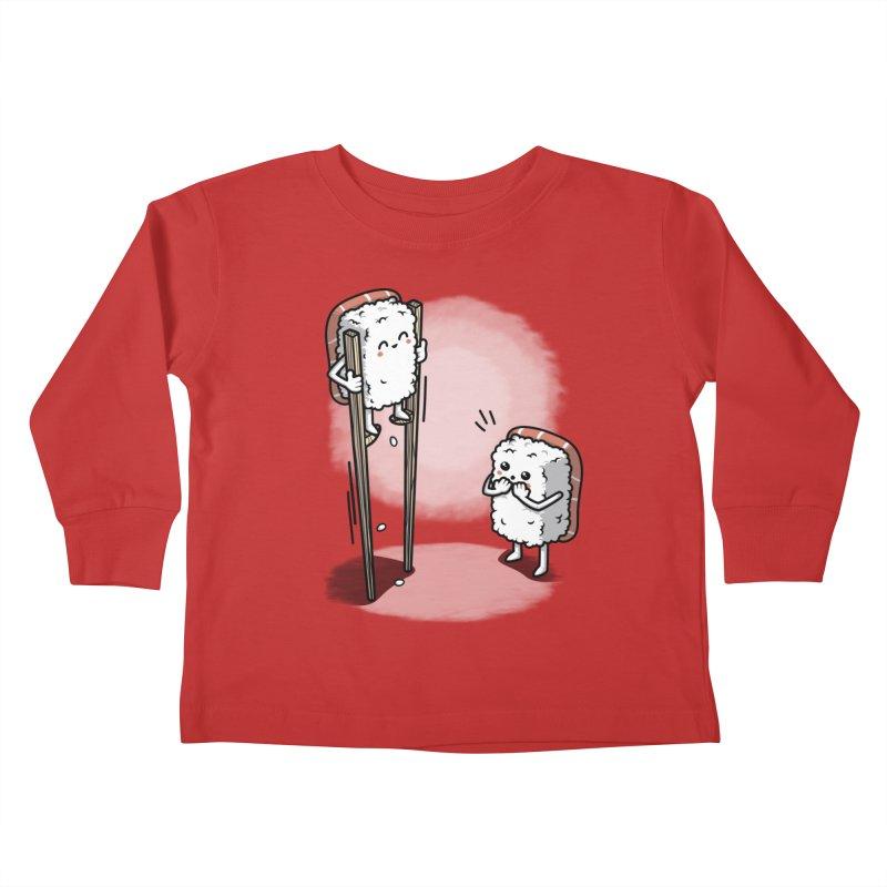 Sushi in Chopsticks Kids Toddler Longsleeve T-Shirt by Olipop Art & Design Shop