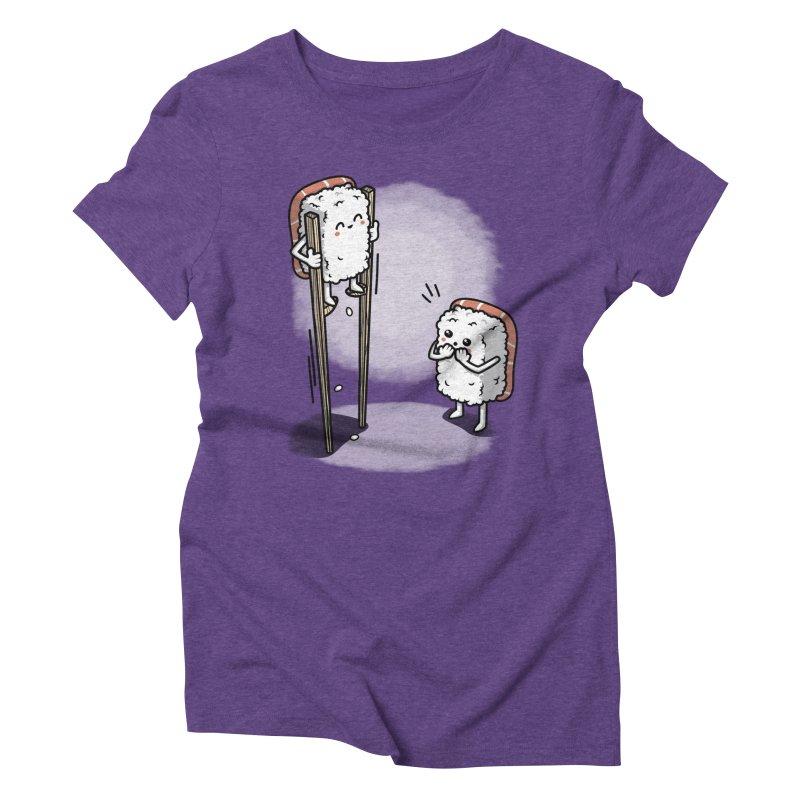 Sushi in Chopsticks Women's Triblend T-Shirt by Olipop Art & Design Shop