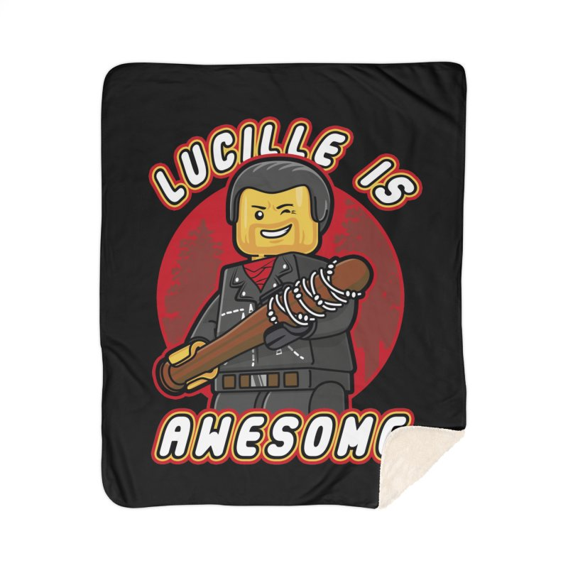 Lucille is Awesome Home Sherpa Blanket Blanket by Olipop Art & Design Shop