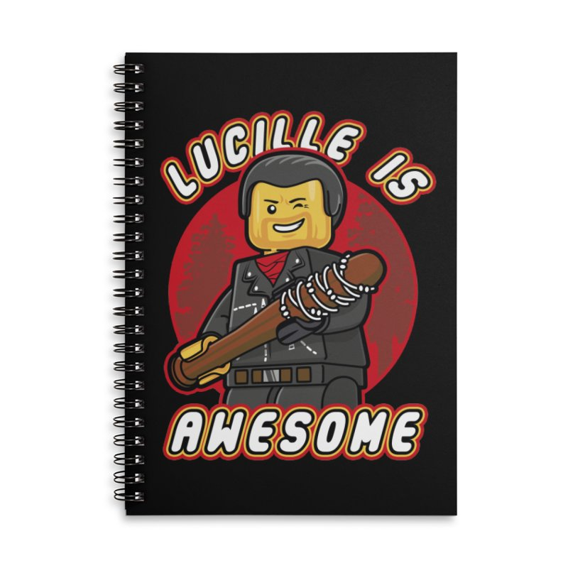 Lucille is Awesome Accessories Lined Spiral Notebook by Olipop Art & Design Shop
