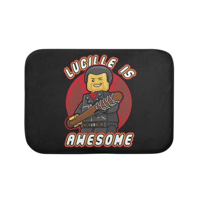 Lucille is Awesome Home Bath Mat by Olipop Art & Design Shop