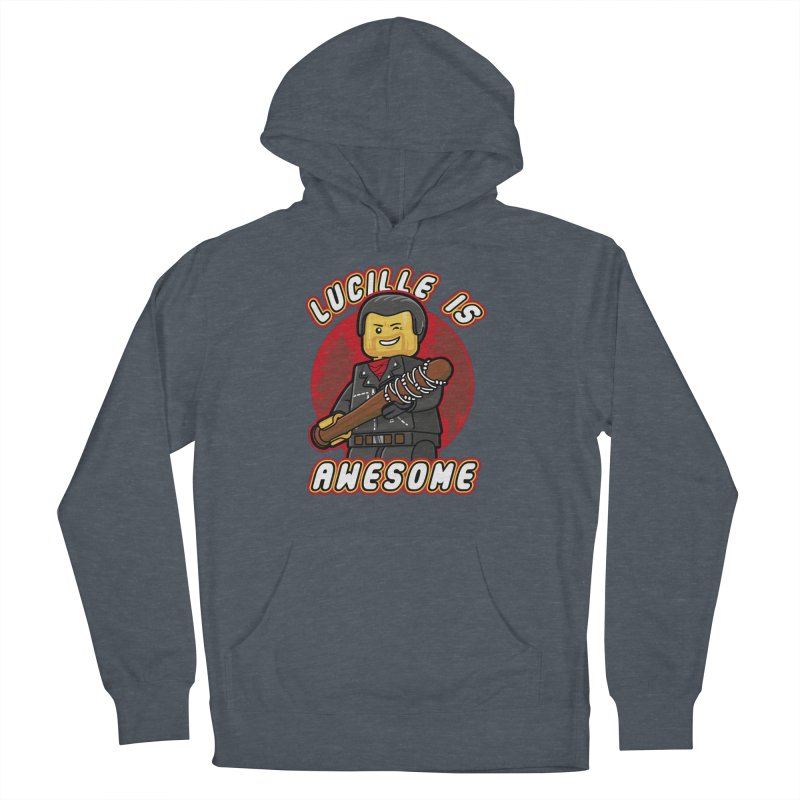Lucille is Awesome Men's French Terry Pullover Hoody by Olipop Art & Design Shop