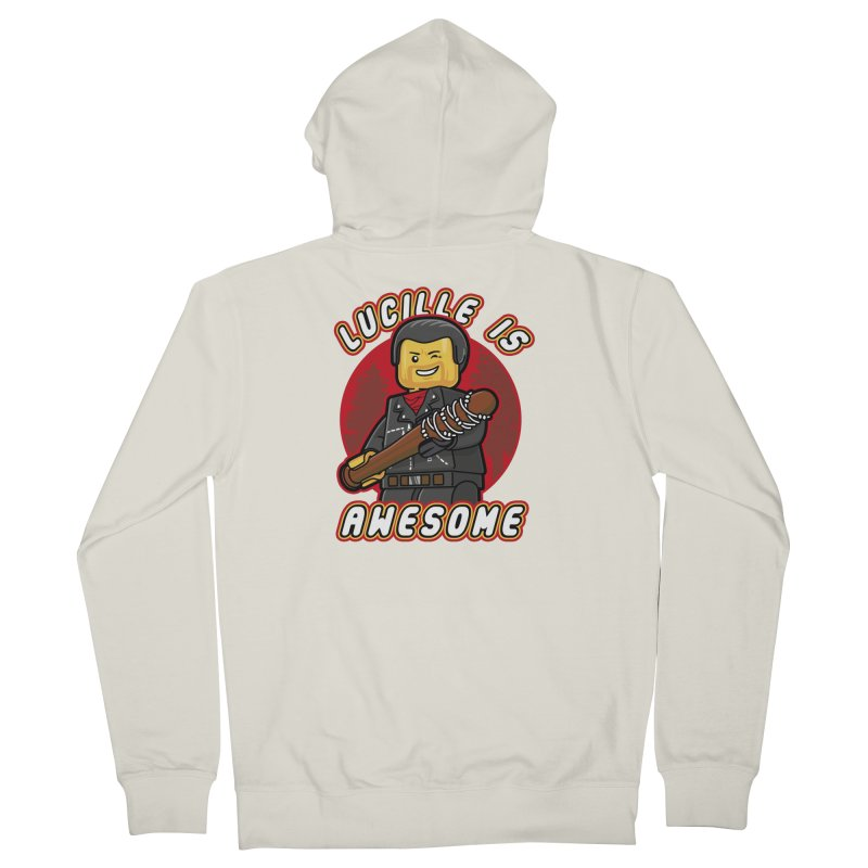 Lucille is Awesome Men's French Terry Zip-Up Hoody by Olipop Art & Design Shop