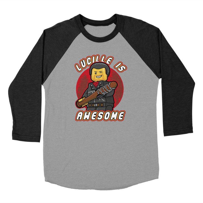 Lucille is Awesome Women's Baseball Triblend Longsleeve T-Shirt by Olipop Art & Design Shop