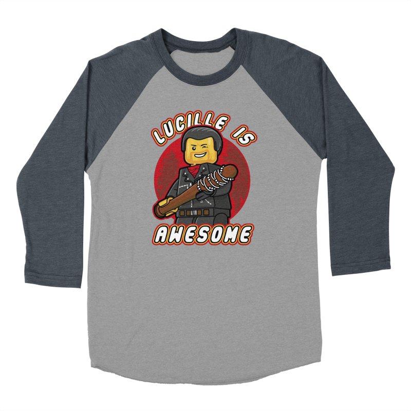 Lucille is Awesome Men's Baseball Triblend Longsleeve T-Shirt by Olipop Art & Design Shop
