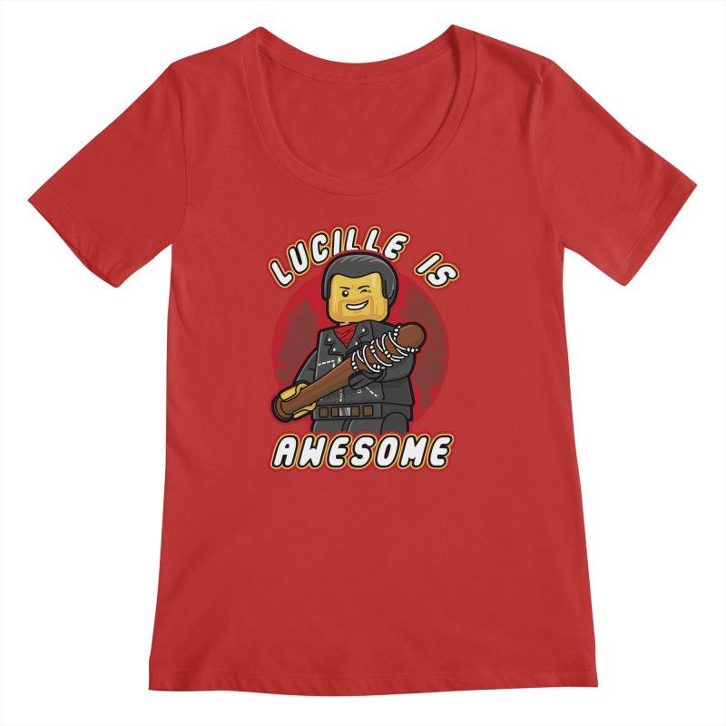 Lucille is Awesome Women's Regular Scoop Neck by Olipop Art & Design Shop