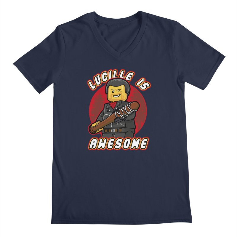 Lucille is Awesome Men's Regular V-Neck by Olipop Art & Design Shop