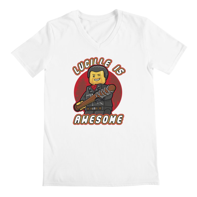 Lucille is Awesome Men's V-Neck by Olipop Art & Design Shop