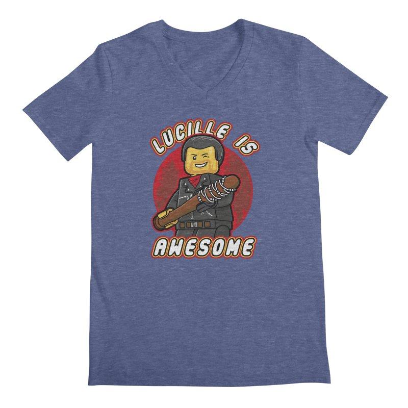 Lucille is Awesome Men's Regular V-Neck by Olipop Art & Design Shop