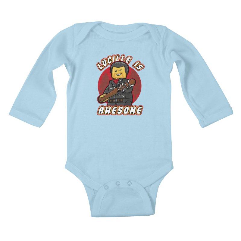 Lucille is Awesome Kids Baby Longsleeve Bodysuit by Olipop Art & Design Shop