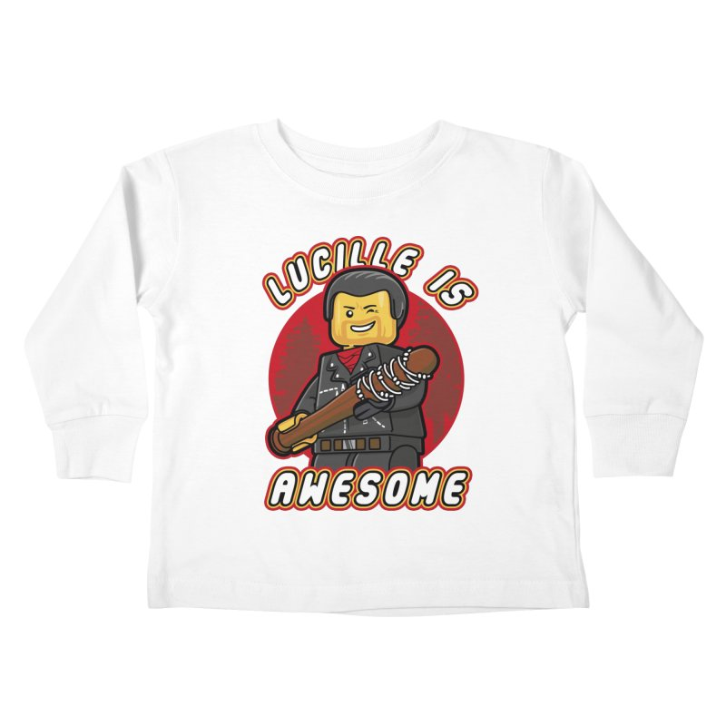 Lucille is Awesome Kids Toddler Longsleeve T-Shirt by Olipop Art & Design Shop