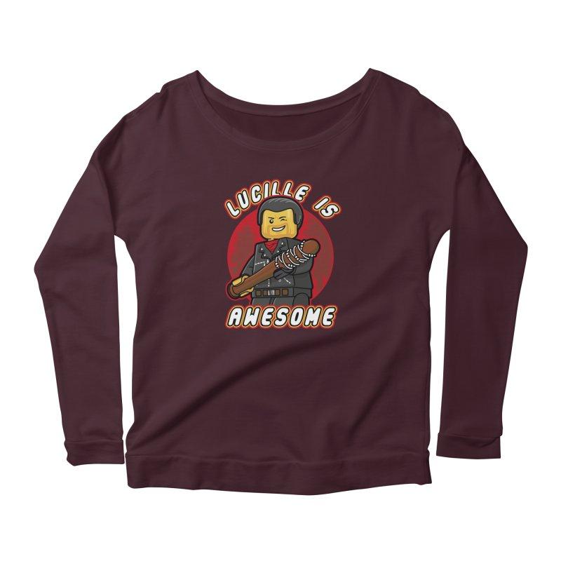 Lucille is Awesome Women's Scoop Neck Longsleeve T-Shirt by Olipop Art & Design Shop