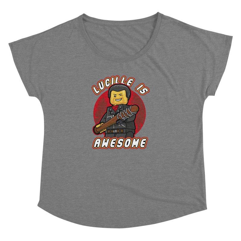 Lucille is Awesome Women's Dolman Scoop Neck by Olipop Art & Design Shop