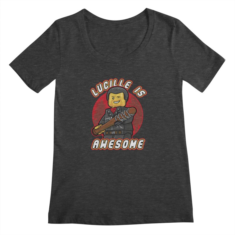 Lucille is Awesome Women's Scoopneck by Olipop Art & Design Shop