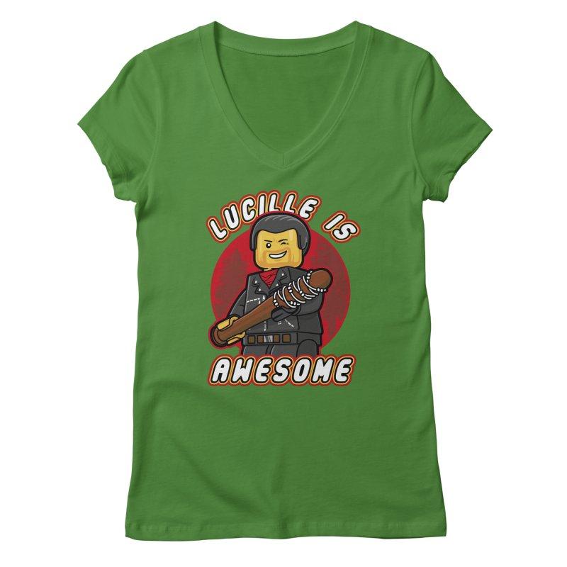 Lucille is Awesome Women's Regular V-Neck by Olipop Art & Design Shop