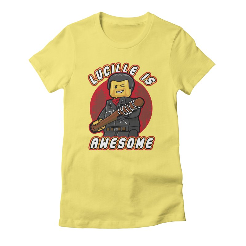 Lucille is Awesome Women's Fitted T-Shirt by Olipop Art & Design Shop