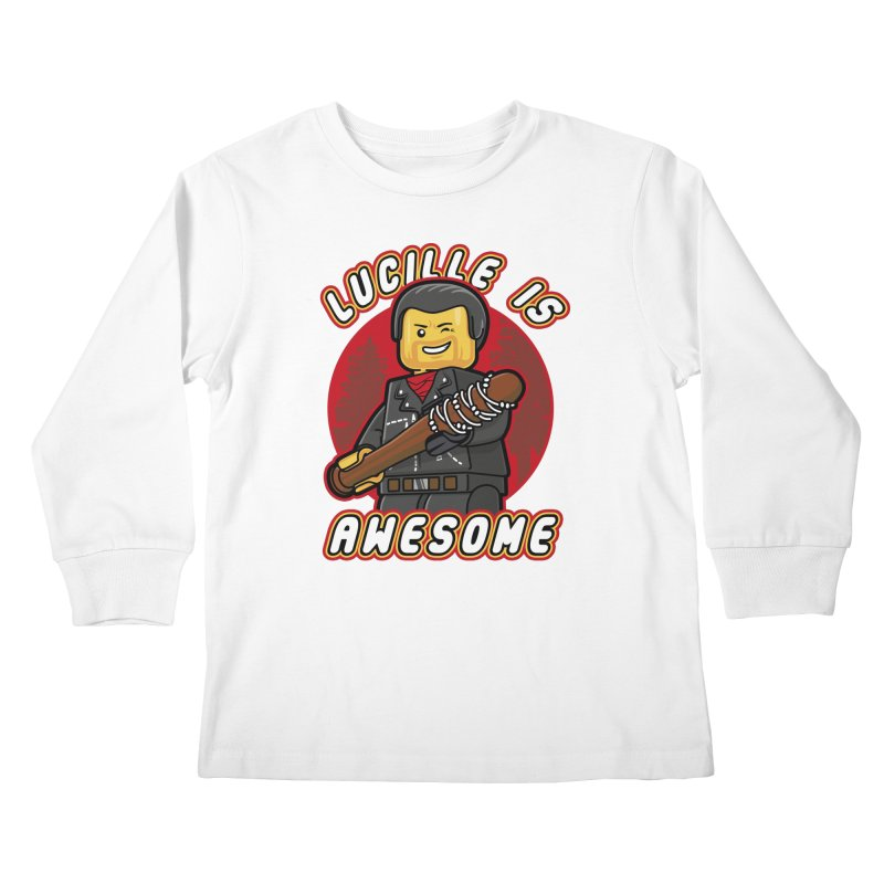 Lucille is Awesome Kids Longsleeve T-Shirt by Olipop Art & Design Shop
