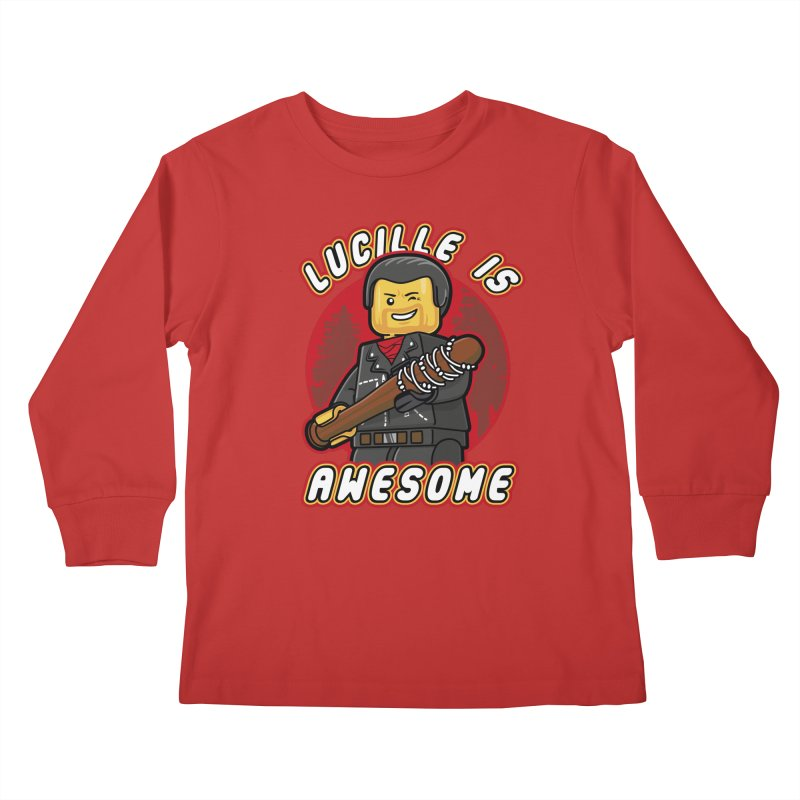 Lucille is Awesome Kids Longsleeve T-Shirt by Olipop Art & Design Shop