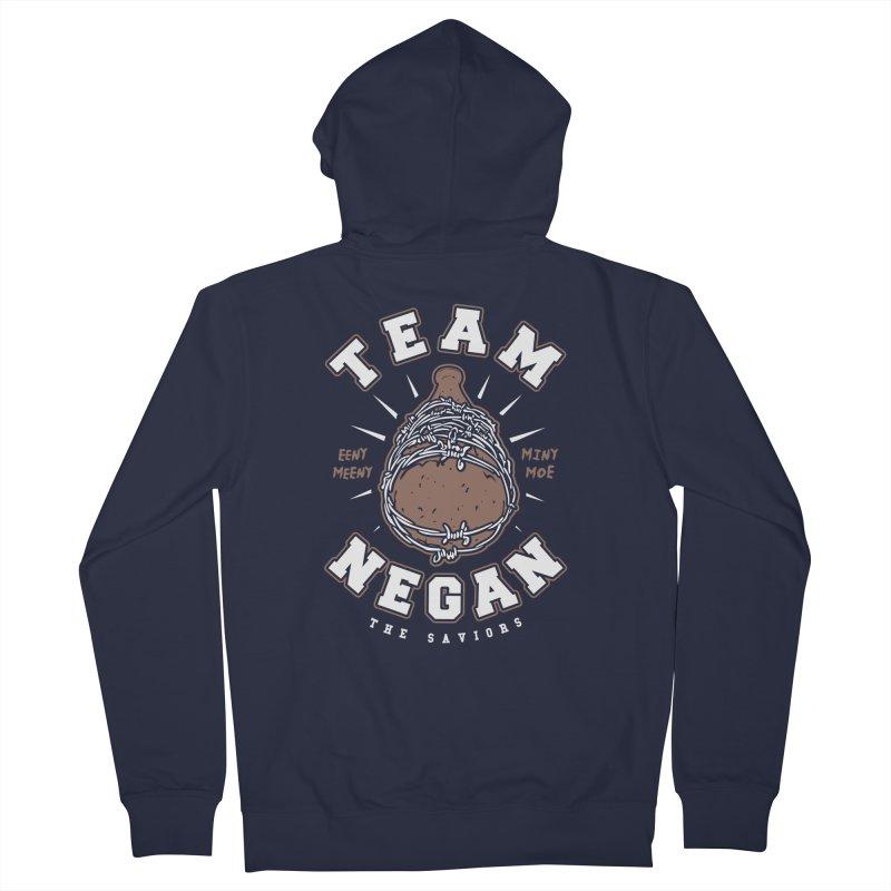 Team Negan Men's French Terry Zip-Up Hoody by Olipop Art & Design Shop