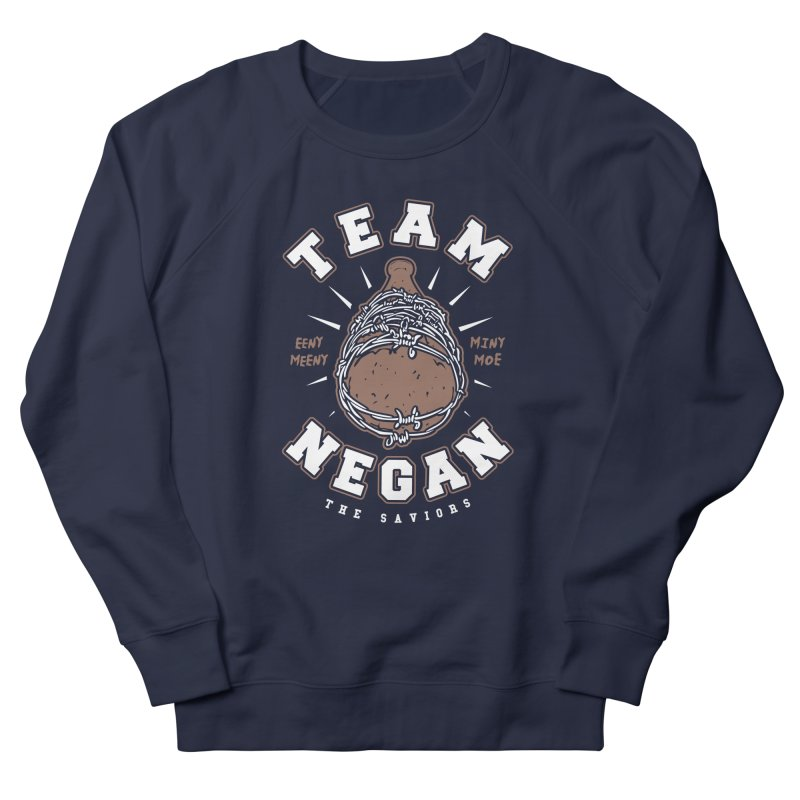 Team Negan Men's French Terry Sweatshirt by Olipop Art & Design Shop