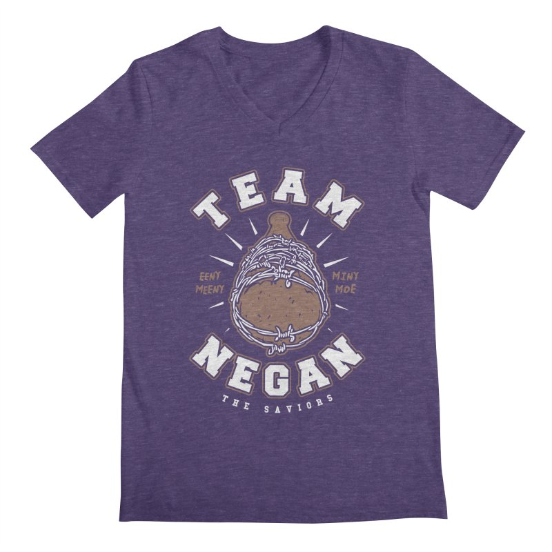 Team Negan Men's Regular V-Neck by Olipop Art & Design Shop