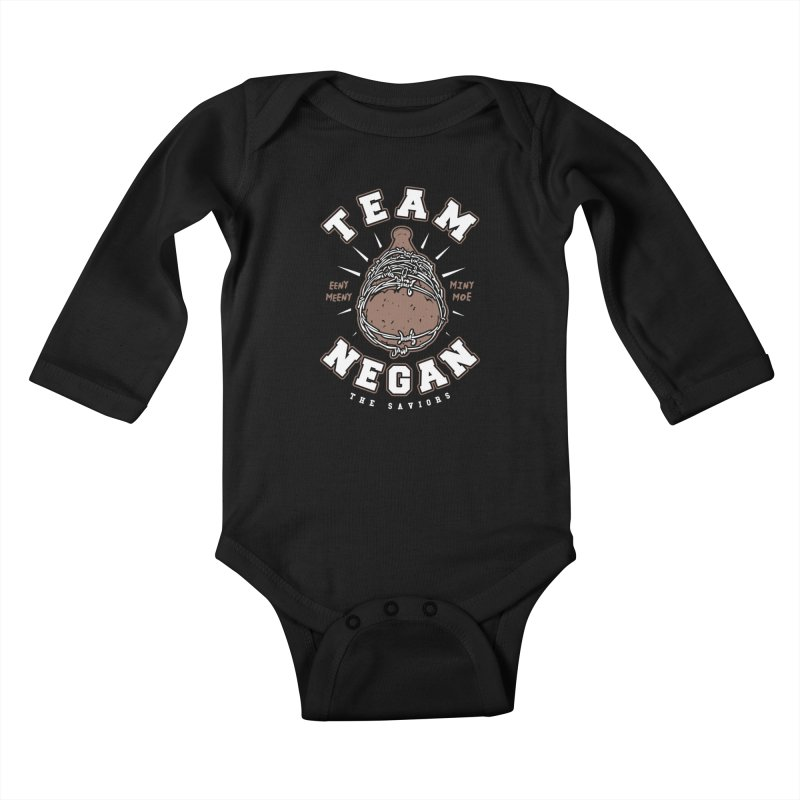 Team Negan Kids Baby Longsleeve Bodysuit by Olipop Art & Design Shop