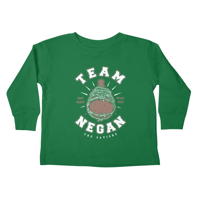Team Negan Kids Toddler Longsleeve T-Shirt by Olipop Art & Design Shop