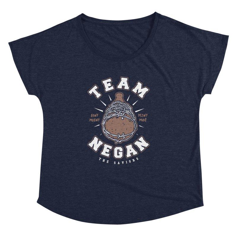 Team Negan Women's Dolman Scoop Neck by Olipop Art & Design Shop