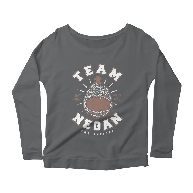 Team Negan Women's Scoop Neck Longsleeve T-Shirt by Olipop Art & Design Shop