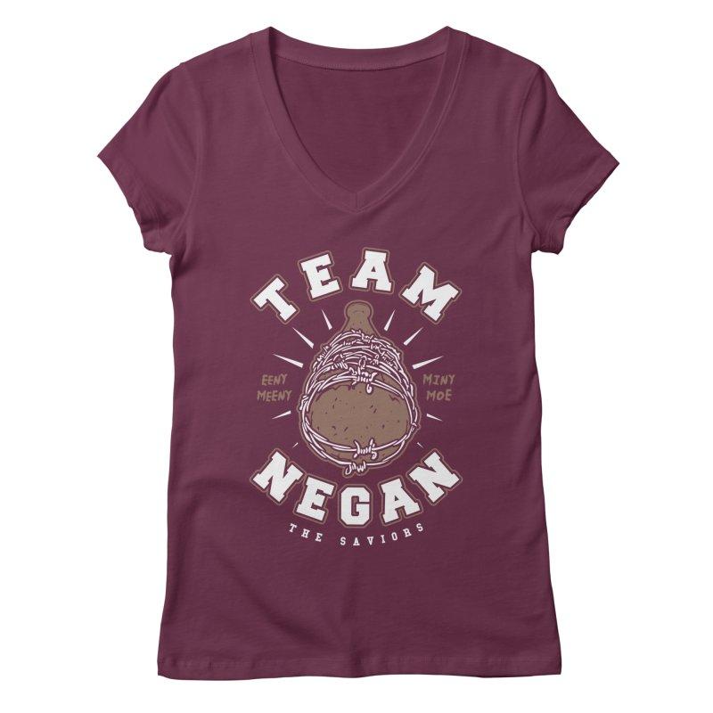 Team Negan Women's Regular V-Neck by Olipop Art & Design Shop