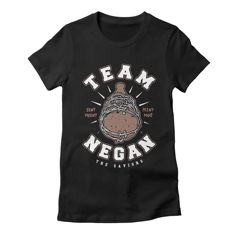 Team Negan Women's Fitted T-Shirt by Olipop Art & Design Shop