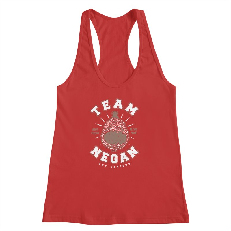 Team Negan Women's Racerback Tank by Olipop Art & Design Shop